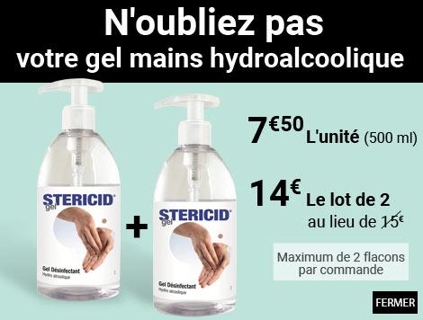 N'oubliez pas  votre gel mains hydroalcoolique
